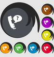 Telemarketing icon sign Symbols on eight colored vector image vector image