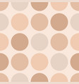 tile pastel pattern with big dots on beige vector image vector image