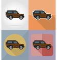 transport flat icons 05 vector image vector image