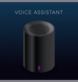 voice assistant icon - personal assistant vector image vector image
