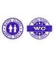 wc grunge stamp seals vector image vector image