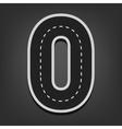 Zero number Road font vector image vector image