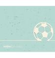 Creative Ball football Art vector image