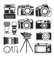 retro camera and old or modern photography vector image