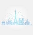 architectural landmarks of paris vector image