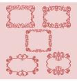 set frame pattern red vector image