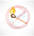 ban matches grunge icon vector image