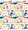 underwater seamless pattern with fishes octopus vector image
