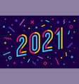 2021 greeting card with inscription vector image