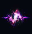 abstract spectrum sound wave glowing light effect vector image