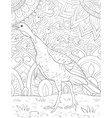 adult coloring bookpage a cute turkey on the vector image
