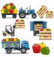 Agricultural Icons Set 4 vector image vector image