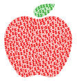 apple collage of dollar and dots vector image