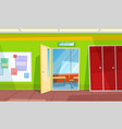 back to school classroom or auditory hall vector image vector image