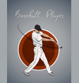 baseball player with bat hitting ball sketch vector image