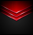 black and red metal texture background vector image