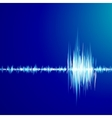 Blue graph of sound vector image