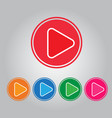 button video play and audio vector image vector image
