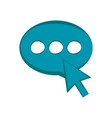 chat bubble with arrow vector image vector image
