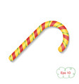 christmas candy cane in the shape of a hook vector image
