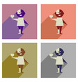 concept of flat icons with long shadow no racism vector image vector image