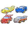 cute cartoon car characters vector image vector image