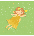 Cute Little Yellow Fairy vector image
