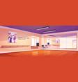 dance studio ballet class interior with mirrors vector image