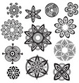 decorative flower round ornament mandala line vector image vector image