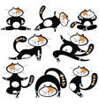 different cartoon cats set vector image vector image