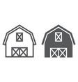 farm barn line and glyph icon farming