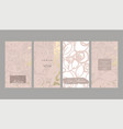 floral collection set trendy chic social media vector image vector image