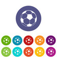 football icons set color vector image