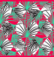 green and red palm leaves and harlequin rhombs vector image vector image