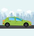 green sports car vector image vector image