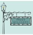 happy holidays retro vintage street sign vector image vector image