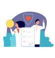 healthcare insurance health policy medical vector image