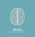 human brain creativity symbol vector image