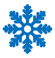 icon snowflake isolated vector image vector image