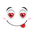 In love emoticon sign vector image vector image