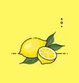 lemon open by half vector image vector image