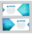marine water banners vector image vector image