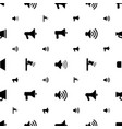 megaphone icons pattern seamless white background vector image vector image