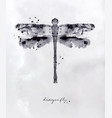 monotype dragonfly black vector image