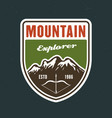 mountains travel and outdoor adventure vector image