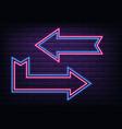 neon wall frame vector image vector image