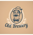 Old Brewery or Beer House Logo vector image vector image