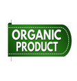 organic product banner design vector image