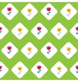 Paper Trendy Flat Flower Seamless Pattern vector image