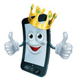 phone man with crown vector image vector image